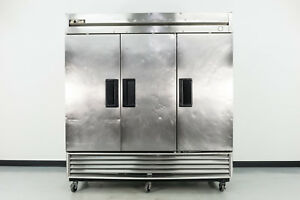 Used True T 72f 3 Door Bottom Mount Reach in Freezer