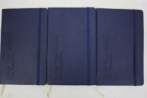 Lot Of 3 Blank Journals Cover Your Assets Deal Roadshow Notebooks Brand New