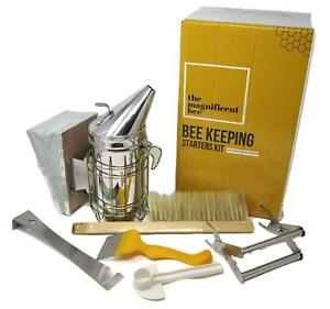 Bee Smoker Starter Kit Beekeeping Accessories Hive Feeder Brush Scraper Tools