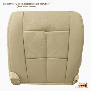 2007 To 2014 Lincoln Navigator Front Driver Bottom Tan Perforated Leather Cover