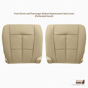2007 To 2014 Lincoln Navigator Driver Passenger Bottom Leather Seat Cover Tan