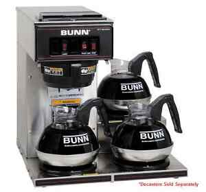 Restaurant Coffee Maker Bunn Vp17 3 Commercial Pourover Brewer With 3 Warmers