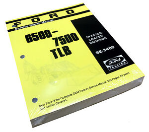 Ford 6500 7500 Tractor Loader Backhoe Factory Service Repair Manual Shop Book
