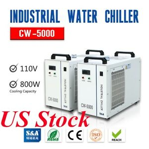 S a Cw 5000 Industrial Water Chiller For 3w 5w Ultraviolet Laser Us Stock
