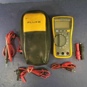 Fluke 115 Trms Multimeter Good Condition Screen Protector Case