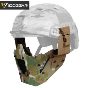IDOGEAR Airsoft Mask JAY Mesh Half Face Mask Paintball Mask Steel FAST Helmet