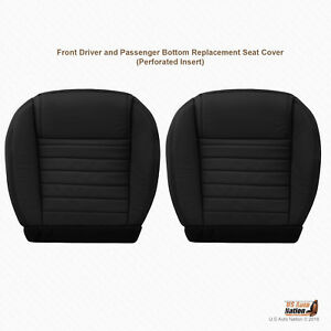 2007 2008 2009 Ford Mustang Gt Driver Passenger Bottom Blk Leather Seat Cover