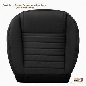 2005 2006 2007 2008 2009 Ford Mustang Coupe Driver Bottom Leather Seat Cover Blk