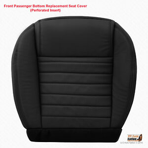 2005 2009 Ford Mustang Passenger Side Bottom Blk Perforated Leather Seat Cover