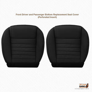 2005 2009 Ford Mustang Driver Passenger Bottom Leather Seat Cover Color Black