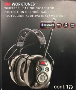 3m Worktunes Wireless Hearing Protector Bluetooth mp3 Compatible Am fm