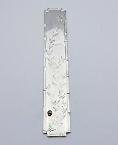 Sterling Tiffany Bookmark W Bamboo Border Applied Mixed Metal Bug 4545