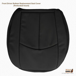 2008 2009 Mercedes Benz E350 Driver Bottom Perforated Leather Seat Cover Black