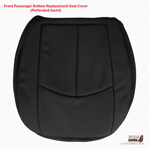 2006 2007 Mercedes Benz E350 Passenger Bottom Perforated Blk Leather Seat Cover