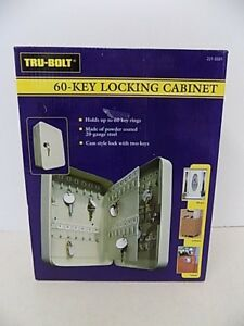 60 Key Locking Steel Cabinet Tru bolt New And Sealed