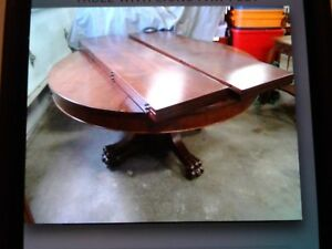 Antique Dining Table Walnut Or Mahogany Table