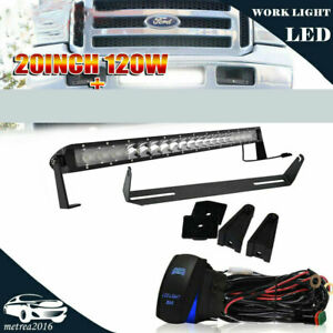120w 20 Led Light Bar W 4 Pods Lamp Wirings For 99 07 Ford F250 F350