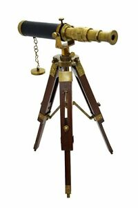 Antique Tripod Telescope Replica Length 27cm With Stand