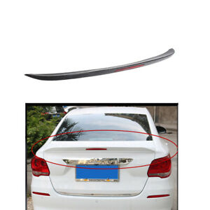 Rear Wing Trunk Lip Spoiler Black With Reflector Fit For Chevrolet Cruze 2017 19