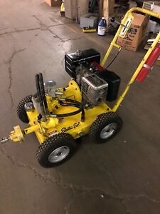 Electric Eel Model 800 Hydrostatic Sewer Cleaner W Trailer And Augers