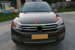 Stainless Front Hood Grill Cover Bonnet Cover For Volkswagen Touareg 2011 2017