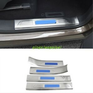 Built In Welcome Pedal Door Sill Scuff Trim For Volkswagen Touareg 2011 2017