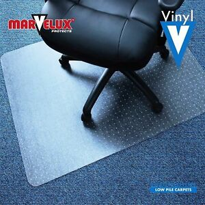 48x60 Vinyl Pvc Rectangular Chair Mat For Carpets Clear Smooth Glide Surface
