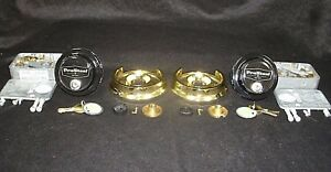 Lot Of 2 S g 6741 Combination Safe Locks In Black Gold Finishes Locksmith