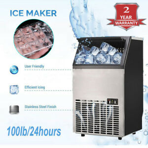 Commercial Ice Maker Stainless Steel Built in Undercounter Freestand 115v 100lb