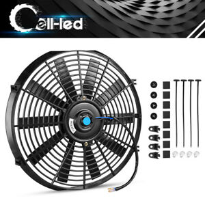 1pc 14in Slim Fan Push Pull Electric Radiator Cooling Dc 12v For Rv A C System