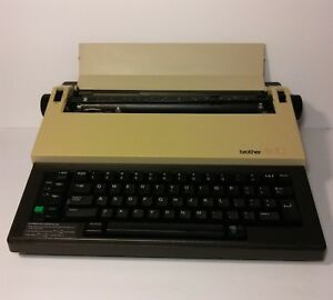 Brother Ax 10 Portable Vintage Electronic Typewriter With Key Board Cover Tested