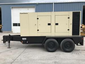 _239 Kva Ingersoll Rand Generator Set 12 Lead Base Fuel Tank Sound Attenuated
