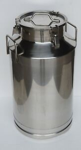 Commercial Stainless Steel Milk Can Wine Pail Bucket Tote Jug 15 9gallon 60liter