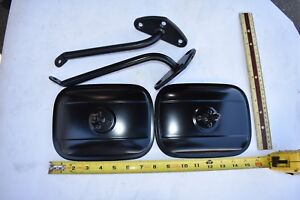 1967 1968 1969 1970 1971 1972 Chevrolet Gmc Truck Black Side Mirror bracket Kit