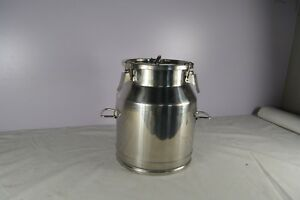 Commercial Stainless Steel Milk Can Wine Pail Bucket Tote Jug 5 3gallon 20liter