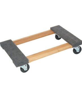 Felt Carpeted Wood Movers Dollie 18 X 30 Pine 300 Capacity