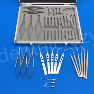 21pcs set New Ophthalmic Cataract Eye Micro Surgery Surgical Instruments