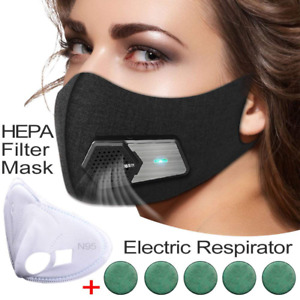 Fresh Air Supply Smart Electric Mask Purifying Anti Pollution N95 For Exhaust Ga