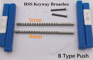 B1 Type Push Type Keyway Broaches 4mm 5mm Hss Keyway Tools For Cnc Machine Tool