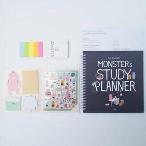 Academic Planner Monster Study Planner For 6 Months With Ahzoa 5 Colors Sticky