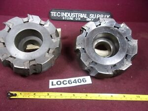 Lot Of 2 Seco Secodex 5 Indexable Face Mill Cutter 257 1 05 00 Loc6406