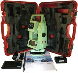 Leica Tcr403 R300 Ultra Total Station Set For Surveying tripod prism