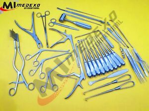 Laminectomy Set 35 Pcs Surgical Orthopedic Instruments Excellent Quality Medexo