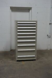 Used Vidmar 10 Drawer Cabinet Industrial Tool Storage 658 Kennedy