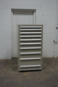Used Vidmar 10 Drawer Cabinet Industrial Tool Storage 650 Lista