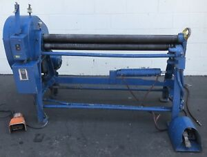 48 X 3 Lown B300 Sheet Metal Electric Power Roller Bending Roll Industrial