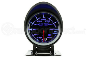 Prosport Universal Oil Temperature Elec W Warning Peak Blue White Gauge 52mm