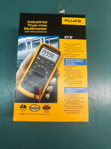 Fluke 87 v True Rms Industrial Digital Multimeter With Temperature Measurement