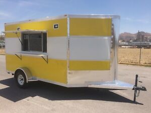 10 X 7 Concession Food Trailer Restaurant Catering Bbq Single Axle V Nose