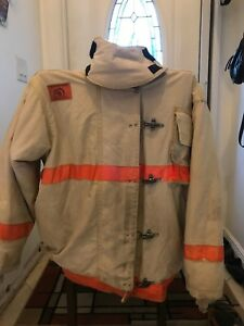 Morning Pride Firefighter Turnout Jacket 52 Chest Lhp Fire Rescue Light tan